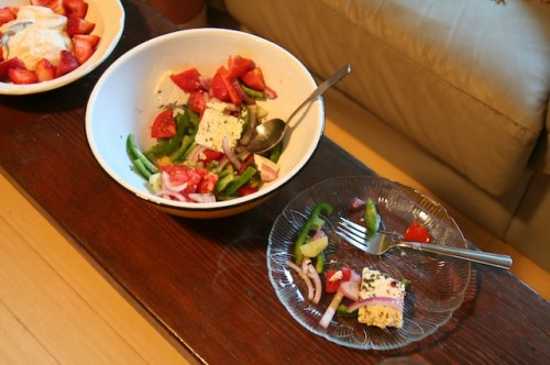 Last year's gardening goal - homegrown Greek salad